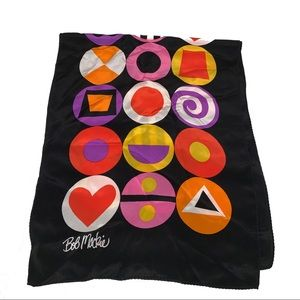 Bob Mackie Wearable Art Scarf 100% Silk